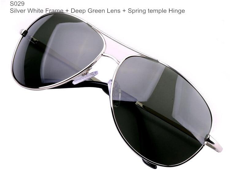 Поляризационные мужские солнцезащитные очки, Брендовые очки, мужские очки из пушечного металла, классические металлические солнцезащитные очки для мужчин - Цвет линз: BrandSunglasses S029