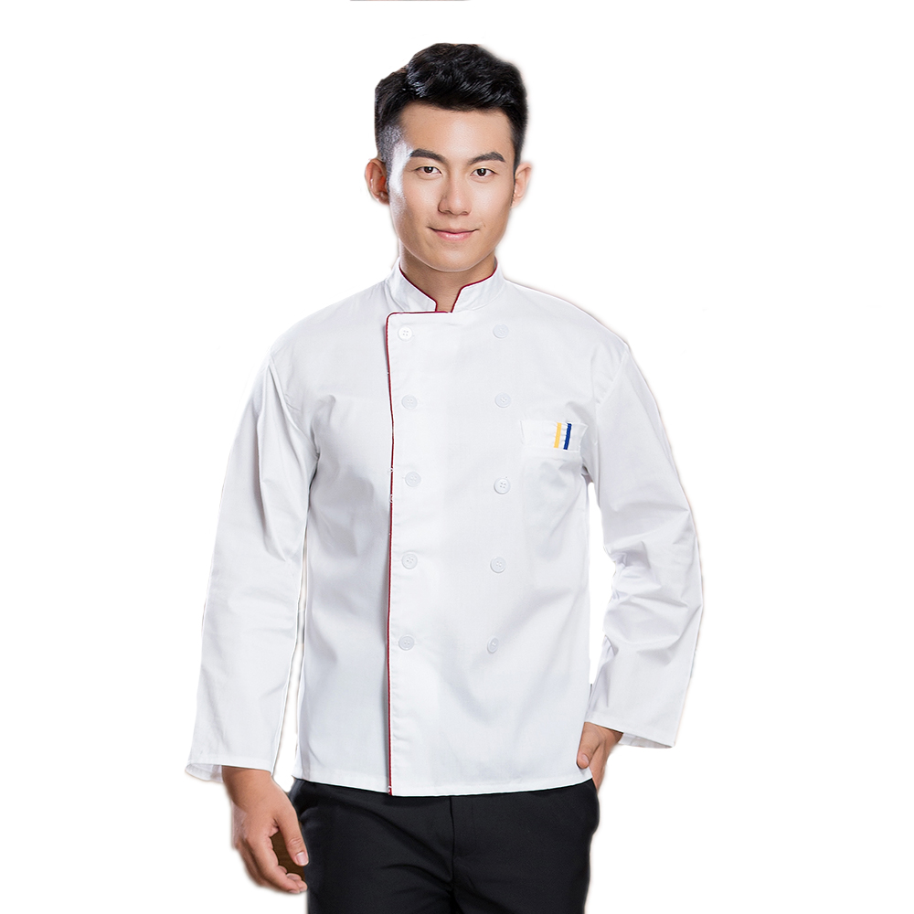 Newly Anti-dirty Long-Sleeved Unisex Professional Chefs Jacket Uniform Hotel Restaurant Kitchen Men Work Clothes Top Tooling