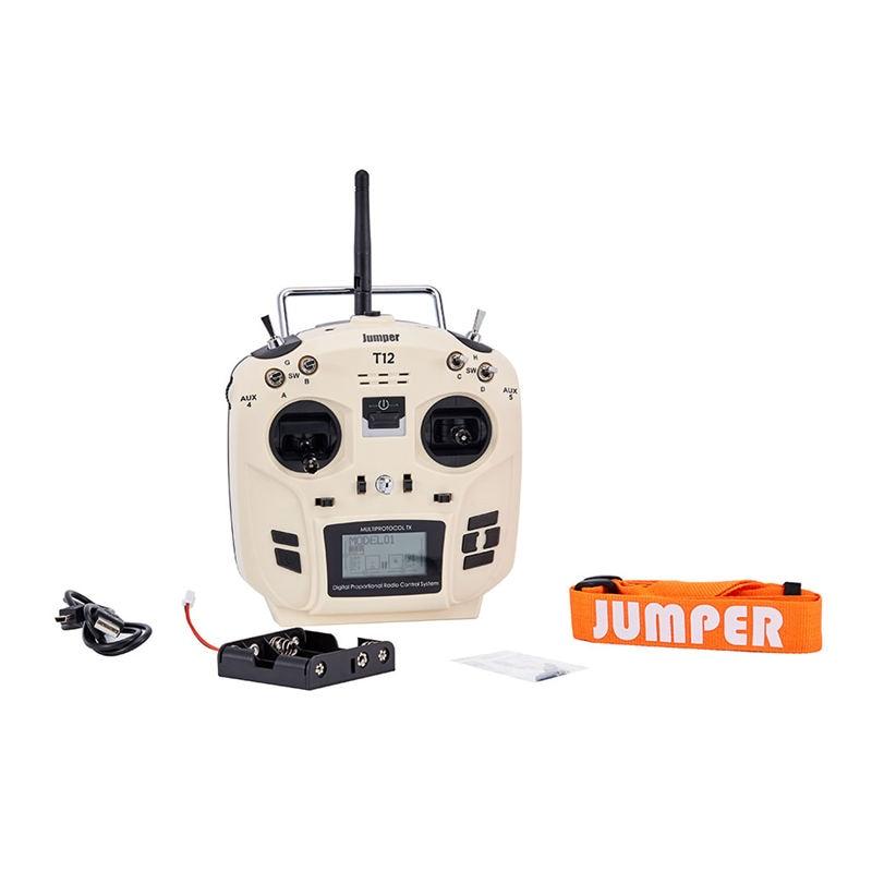 Jumper T12 OpenTX 16CH Radio Transmitter Fernbedienung mit JP4-in-1 Multi-protokoll RF Modul für Frsky JR Flysky Weiß
