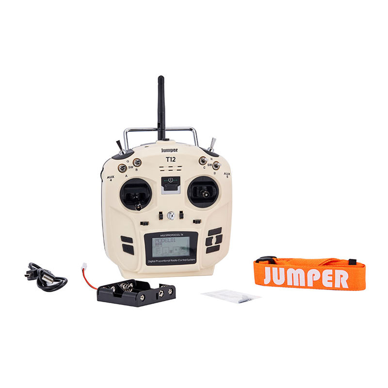 лучшая цена Jumper T12 OpenTX 16CH Radio Transmitter Remote Controller with JP4-in-1 Multi-protocol RF Module for Frsky JR Flysky White