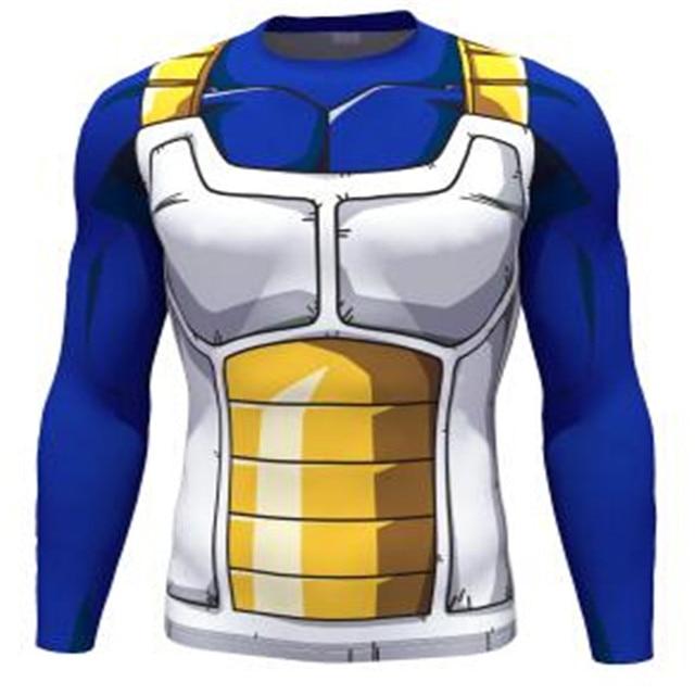 DBZ Dragon Ball Z Vegeta long T Shirts Women Men Anime Super Saiyan Goku/Majin Buu/Piccolo/Cell DBZ T shirt  3D Tees