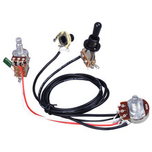 Electric Guitar Wiring Harness Prewired Kit 3 Way Toggle Switch 1 Volume 1 Tone 500K Pots  sc 1 st  AliExpress.com : electric guitar jack wiring - yogabreezes.com