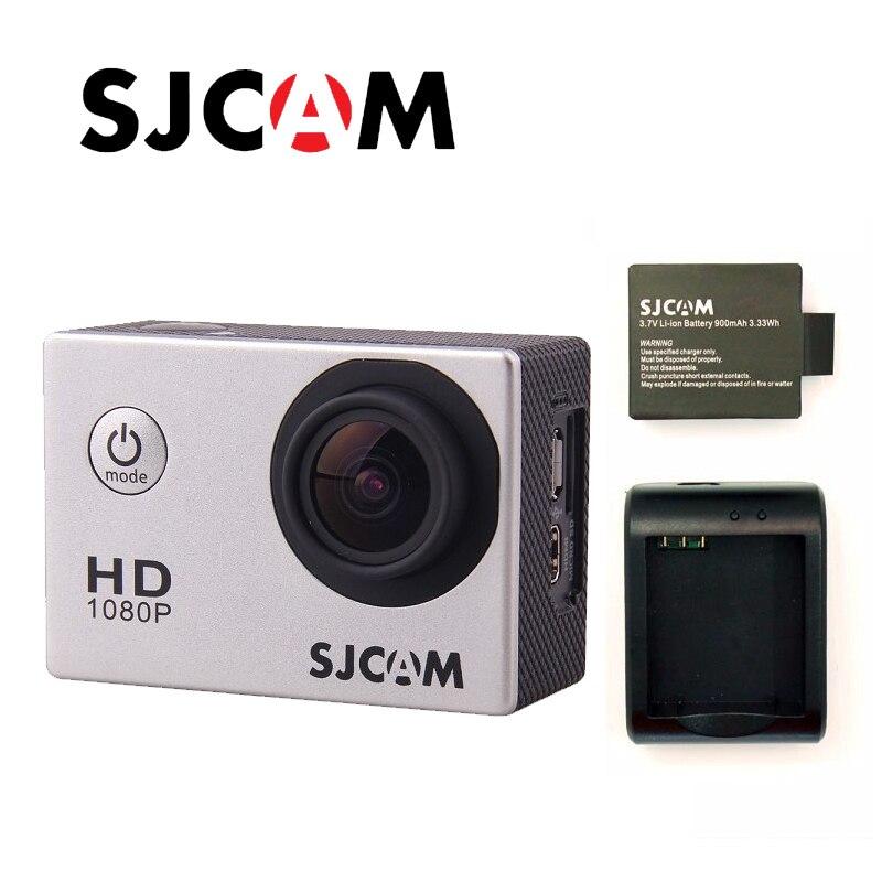 Envío libre! original sjcam SJ4000 Full HD 1080 p buceo 30 m acción Cámara impermeable del deporte DVR conector conjunto