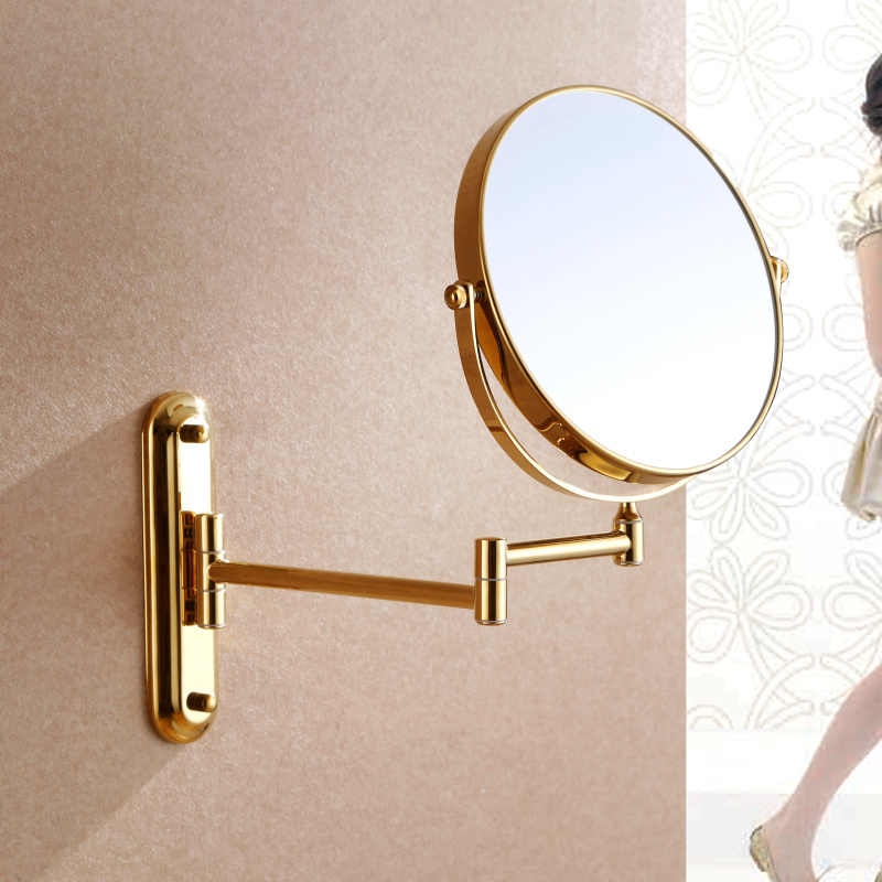 Luxury Gold 3x 1x Magnifying Wall Mount Makeup Mirror 8 Inch Two Sided Extendable Bathroom Vanity Cosmetic In Bath Mirrors From Home