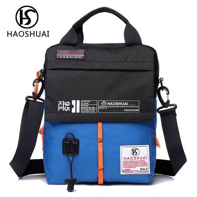 6e5ad7dc9 US $17.04 11% OFF|2017 new style nylon bags waterproof women sling bag mens  pouch men crossbody tote hand bag man shoulder womens bags handbags-in ...