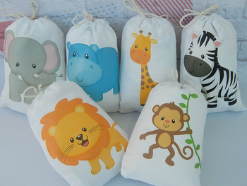 Jungle Animal Favor Bags Candy Bags Gift Bags Jungle Birthday Party Decoration Supplies Jungle Animals Baby Shower Favor Bags фото