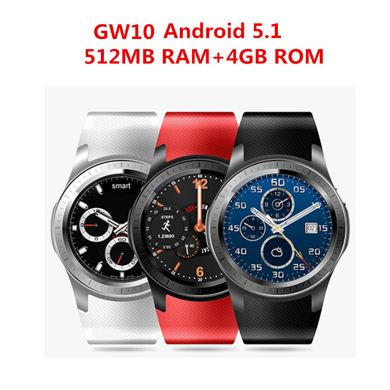 2017 HOT GW10 3G Smart Watch MTK6572 Android 5.1 Dual Core Heart Rate GPS Smartwatch for IOS&Android phone watch P30 smart watch smartwatch dm368 1 39 amoled display quad core bluetooth4 heart rate monitor wristwatch ios android phones pk k8