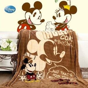 Image 5 - Couverture en flanelle douce à jeter, en dessin animé Disney, Winnie Mickey Mouse, sur le lit, canapé et canapé, 150x200cm, cadeau pour enfants