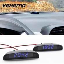 92ad3ee88b2 12 v 3 Em 1 Car Auto Relógio Digital Termômetro Volt Medidor Monitor de  Bateria