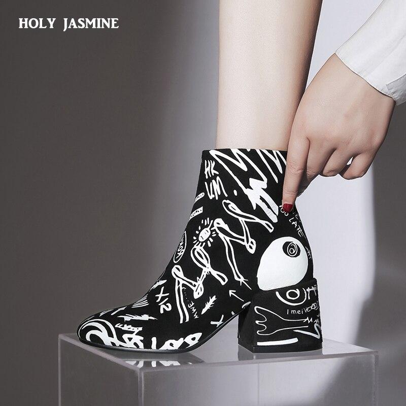Enfant daim mode bottines pour femmes chaussures bout pointu haut bout rond Botas Mujer Botte Femme 2018 hiver nouvelles bottes Femme