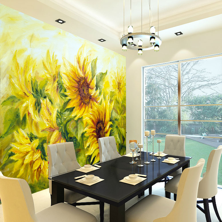 Big Cozy Living Room: Large Mural For Living Room TV Backdrop Wall Paper Cozy