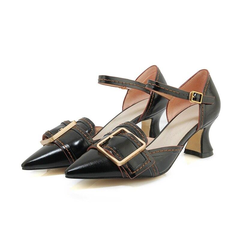 Alto Verano Talones Fiesta Negro Señaló Tacón Toe Patente Oro Plaza Bombas Mujeres Zapatos Black Las gold Moda Cuero De silver brown qa6Xgtgxn