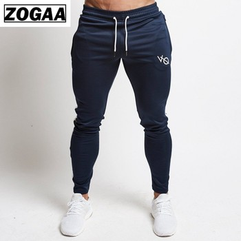 ZOGGA 2019 New Muscle Fitness Brother Sweatpants  Men Pants with Slacks and Slim Running Aesthetic Absorb Sweater