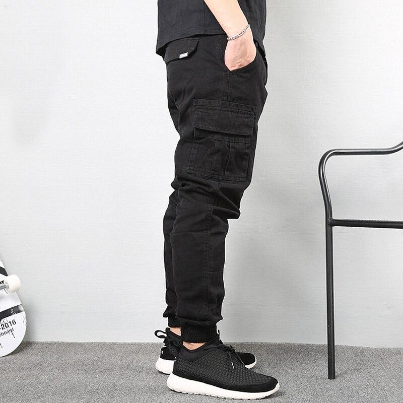Japanese Vintage Fashion Men Jeans Loose Fit Big Pockets Casual Cargo Pants Harem Trousers Streetwear Hip Hop Joggers Pants Men 2
