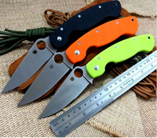 Good feedback C36 Folding Knife D2 steel G10 Handle Camping Hunting Survival Knives Military Pocket Outdoor Tool can OEM