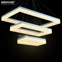 Newest Design LED Chandelier Light LED Rectangular Suspension Hanging Light Lustre LED Home Lighting Decoration