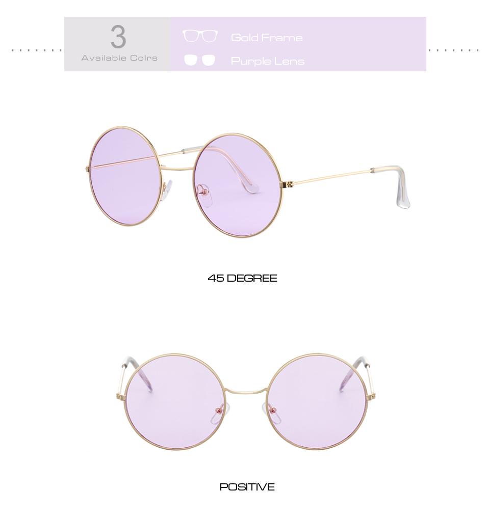 Women's Round Mirror Sunglasses 12