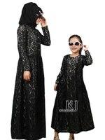 2015 Nieuwe Familie Voorzien Kant Abaya Voor Kinderen Traditionele Islamitische Kleding Moslim Jurk Meisjes Maxi Lange Jilbabs Abaya in Dubai