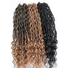 Pervado волосы синтетические мягкие Faux locs Curly вязание крючком плетение волос для наращивания 22 дюйма 70 г/упак. 24 пряди/упаковка богиня прическа