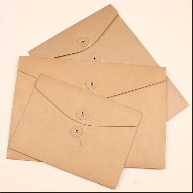 vintage retro kraft paper envelope for business card style high quality free shipping 238175mm a5 in gift bags wrapping supplies from home garden on - Business Card Envelopes