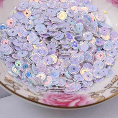 50g 4mm Roda Redonda Flor Chapeamento de Ouro Lantejoulas Soltas Costura PVC Confetti Lantejoulas Paillette DIY Margarida Branca