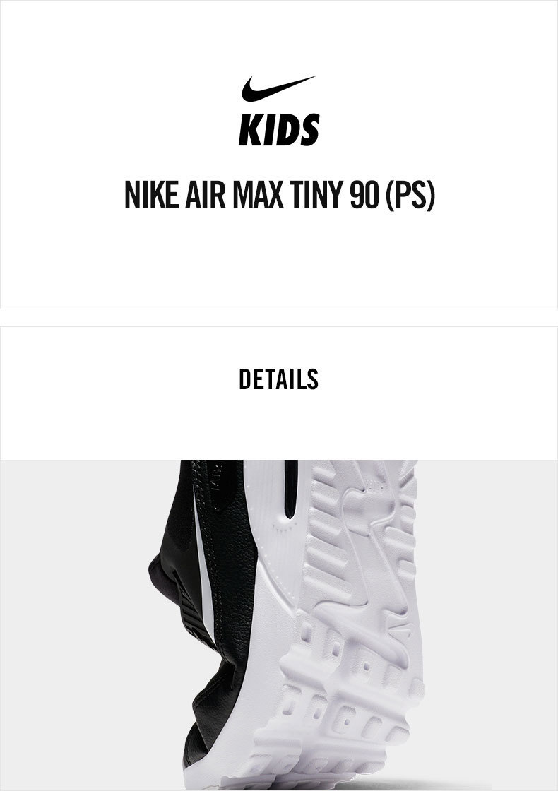 NIKE AIR MAX TINY 90 New Arrival Breathable Sports Children's Running Shoes Comfortable Sneakers 881927 007