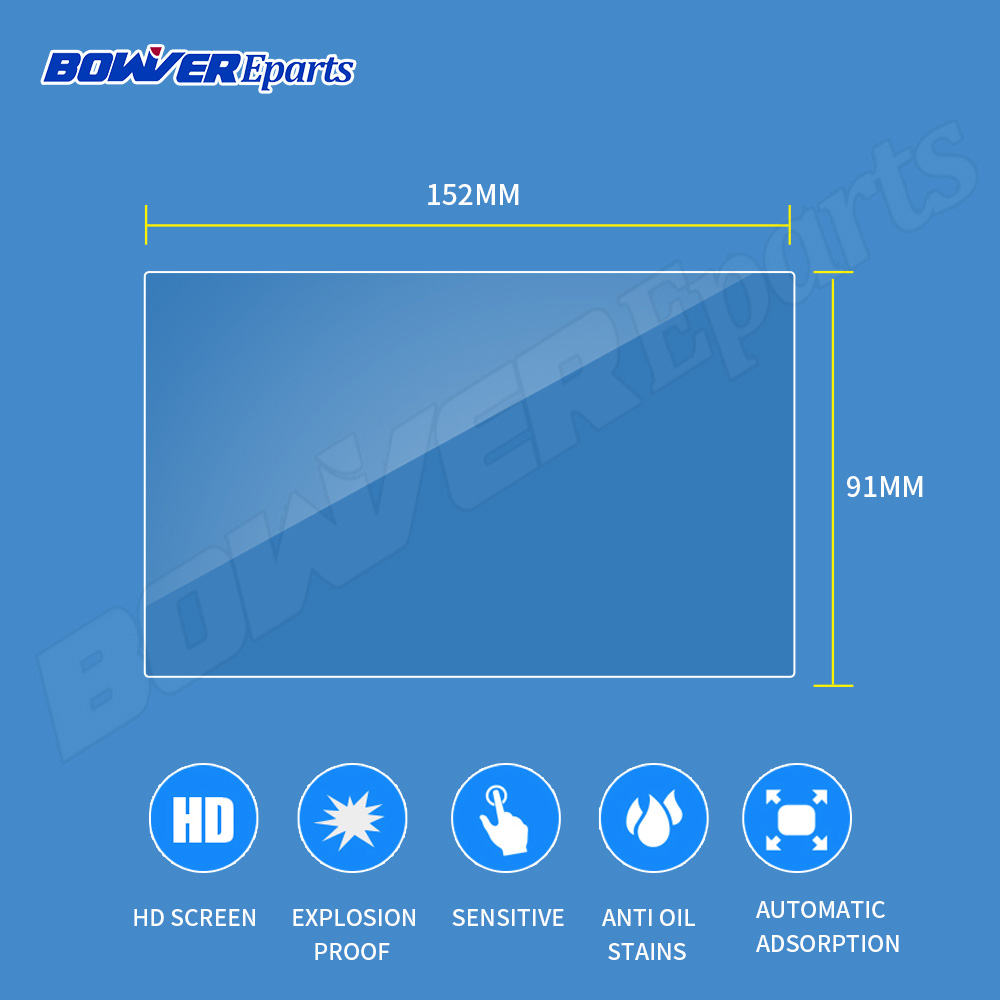 153x85MM/152x91mm Tempered Glass Screen Protector Film For Indash 2 DIN Car DVD GPS Radio Stereo Multimedia Navigation System