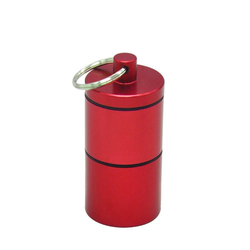 """HORNET Stash Jar-герметичный, устойчивый к запаху алюминиевый контейнер для специй с 2 слоями, чехол для табака """"вы можете собрать его самостоятельно"""" - Цвет: Красный"""