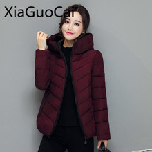 High Brand Winter Women Jackets Padded Slim Hooded Beautiful Coats Cotton A-line Female Pa