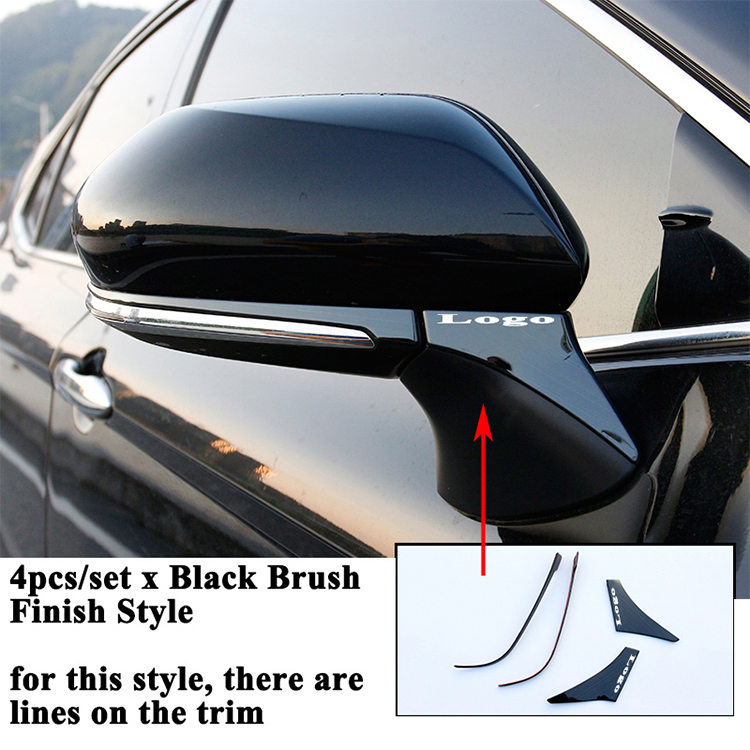4Pcs Stainless Steel Rearview Mirror Under Trim Cover For Toyota Camry 2018