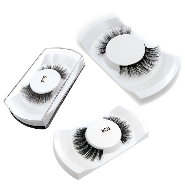 3 Pairs Natural False Eyelashes Kits Makeup Mix 3d Mink Lashes