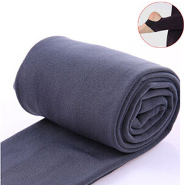2020 Autumn winter woman thick warm leggings candy color brushed charcoal Stretch Fleece Pants Trample Feet Leggings 29