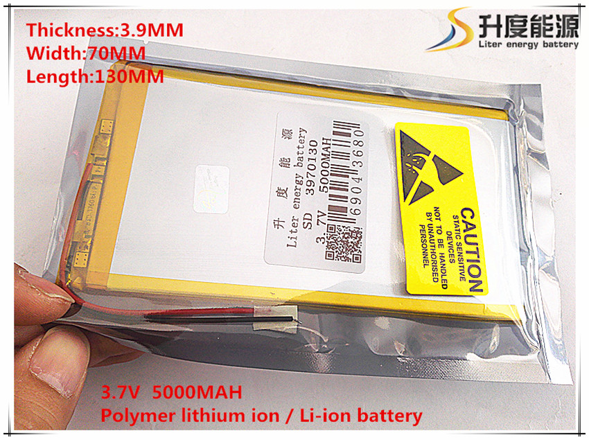 Tablet battery 3.7V 5000mAh [3970130] Lithium Polymer Li-Po li ion Rechargeable Battery cells For Tablet PC V811 812 Battery