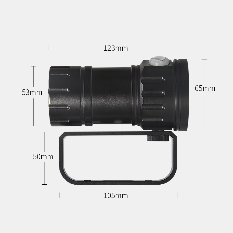 Diving Flashlight 18650 Torch Underwater Photography Light Video Lamp 15*5050 L2 White 6* Red 6* Blue LED Scuba Photo Fill light