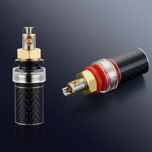 Free shipping Viborg 4PCS BP604R 99.998% Pure Copper Rhodium plated Carbon Fiber Speaker Terminal Binding Post