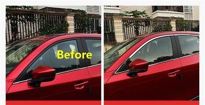 6pcs S//steel Window Chrome Molding Strip Trim sill For Mazda Cx5 MK2 2017 2018
