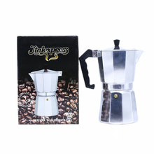 Aluminum Moka Pot Italian Espresso Maker Can Heat -Easy to Use -Makes 9 Cup 450ml