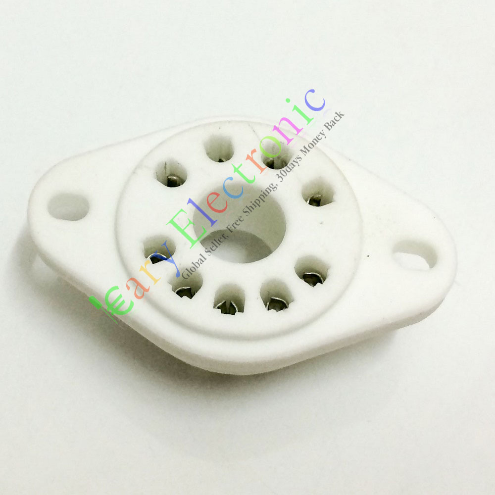 Vente en gros et au détail 20 pc 9pin céramique tube prises audio accessoires bricolage pour RS1003 F3A amplificateur livraison gratuite