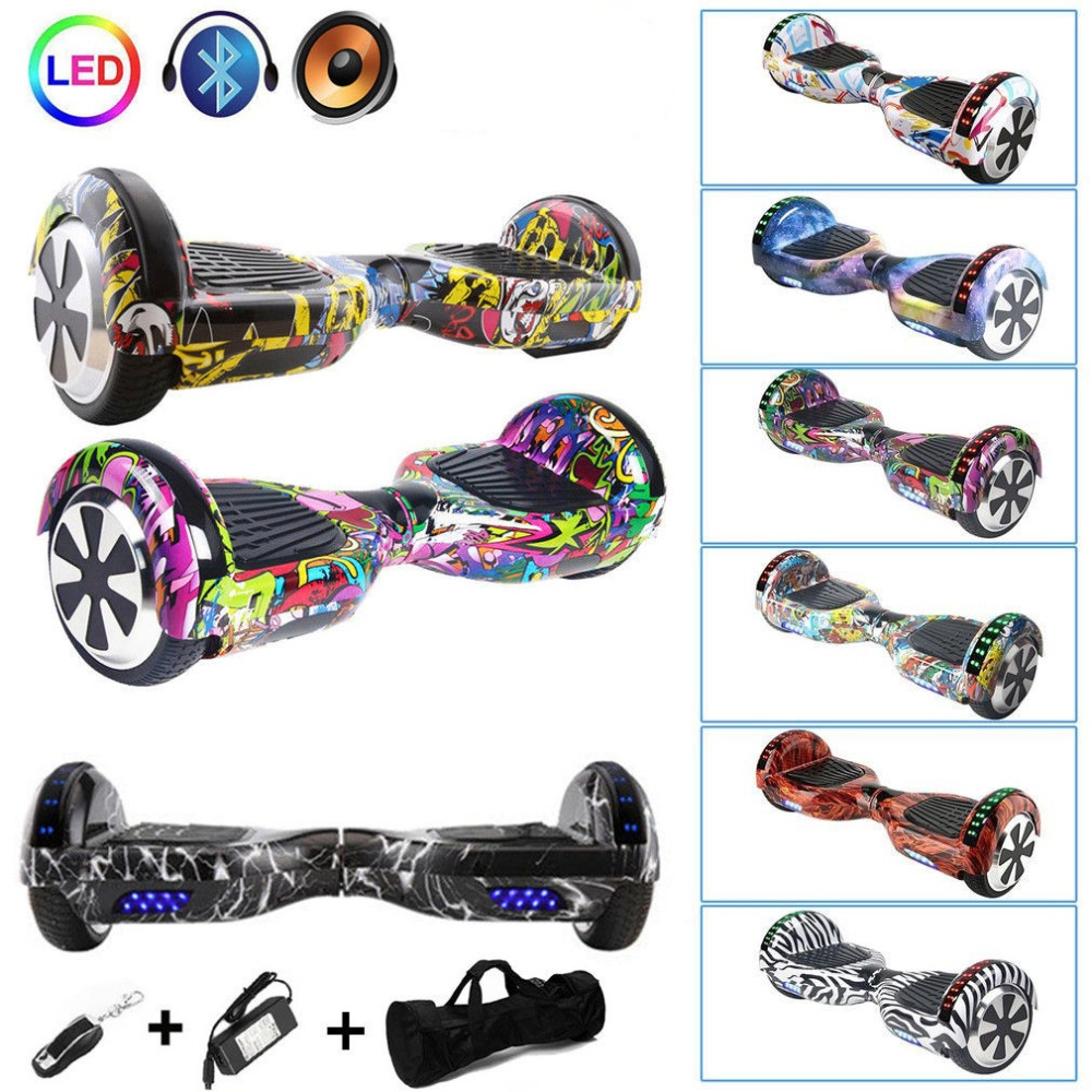 Hoverboard 6 5 Inch Self Balancing Electric Scooter Led Skate Board Support Bluetooth Speaker Function Us Plug