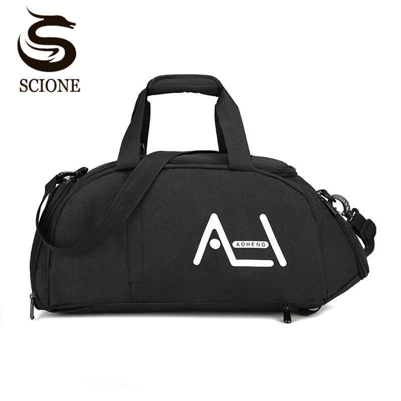 Scione Multifunction Travel Sports Bags Men Women Large Crossbody Handbag Duffel Suitcase Fashion Casual Shoe Outdoor Back Pack
