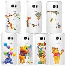 Cartoon cute animal winnie pooh bear soft TPU case for samsung Galaxy A5 A6 A7 A82018 Plus J5 J6 J7 J82018 NOTE8 NOTE9