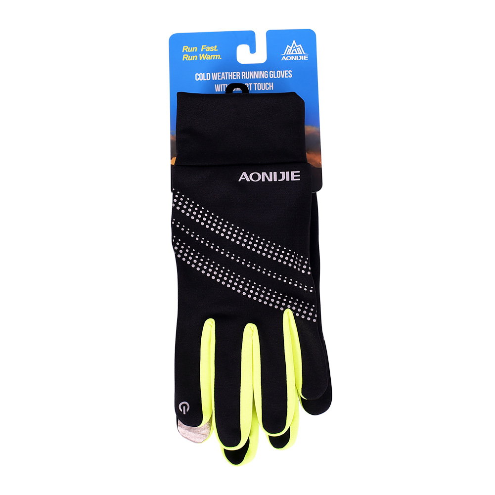 AONIJIE Men Women Outdoor Sports Skiing Gloves Winter Warm Windproof Cycling Running Hiking Motorcycle Full Finger Gloves in Skiing Gloves from Sports Entertainment
