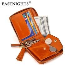 EASTNIGHTS Women Leather Wallet Zipper Magic Ladies wallets Small Short Woman Purse Genuine Cow Female  TW1330