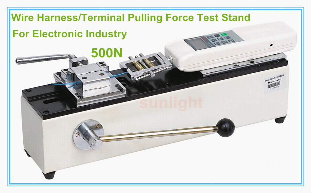 500N Electronic Wire Terminal Pulling Force Test Stand Working with ...
