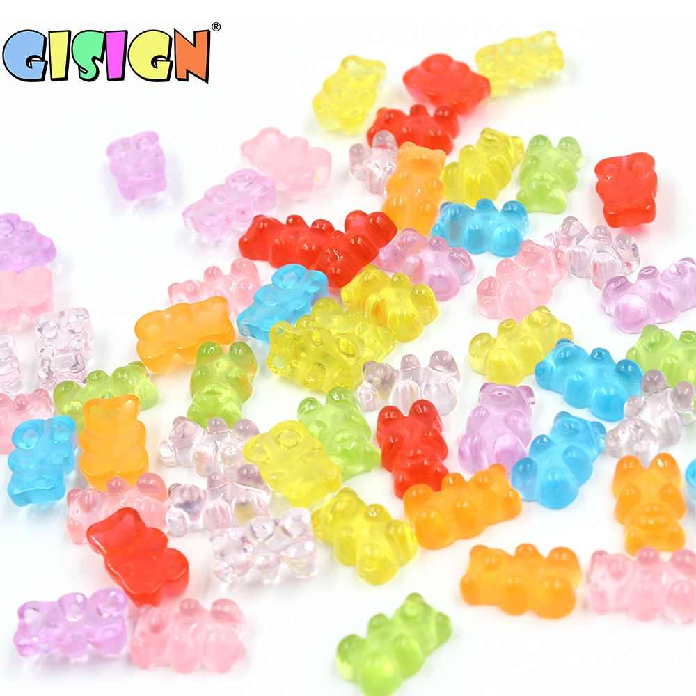 10Pcs Bear Filler for Soft Modeling Clay Lizun Slime Decoration Addition for Slime Plasticine Accessories Kit Toys