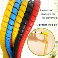 22 Mm Tubing Case Hydraulic Hose Spiral Protective Sleeve Pipe Decoration Tools Winding Pipe 2 Meters