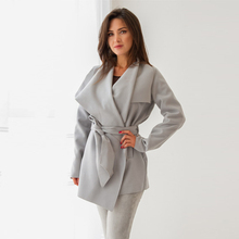 Fall 2019 Trend Coat Gothic Women Winter Drape Coats Europe America New Fashion Brand Slim Designer Adjustable Belt Jacket