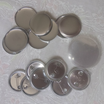 100 sztuk zestaw 2 1 4 #8222 58mm metalowe puste znaczek przypinka przycisk części dostaw na ubrania okrągła przypinka Maker Metal DIY rzemiosło materiały tanie i dobre opinie 100-499 Sztuk