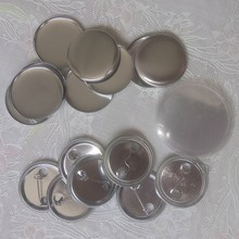 "100 Stks/set 2 1/4 ""58Mm Metal Blank Badge Pin Button Parts Benodigdheden Voor Kleding Badge Button Maker Metalen diy Ambachten Materialen(China)"