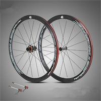 RS Ultra Light Aluminum Alloy 700C Road Bike40 Knife Wheelset Circle 4 Perlin Carbon Fiber Drum
